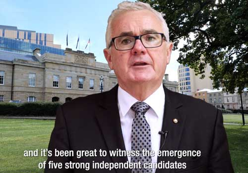 The Wilkie Report – Tasmanian State Election Independent's Day